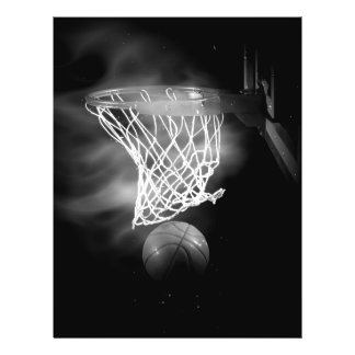 Black & White Basketball Flyers