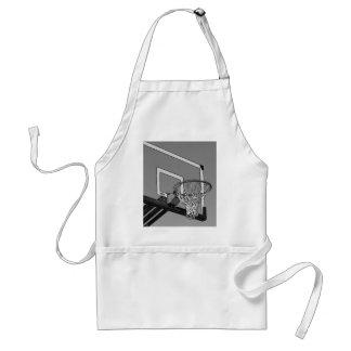 Black & White Basketball Hoop Apron