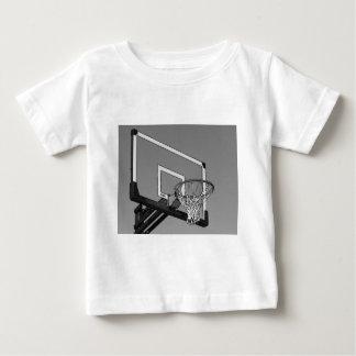 Black & White Basketball Hoop Baby T-Shirt