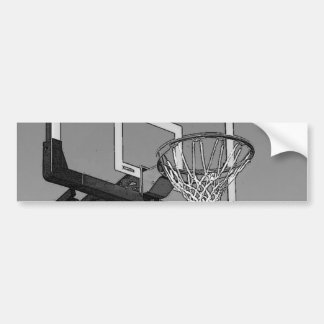 Black & White Basketball Hoop Bumper Sticker