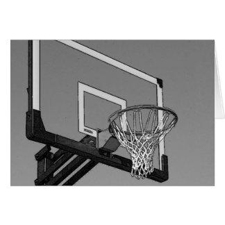 Black & White Basketball Hoop Card