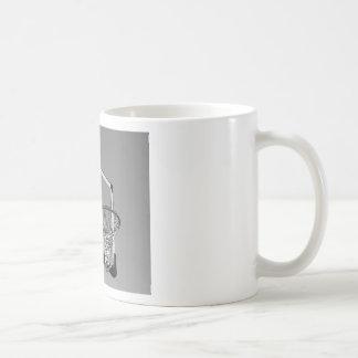 Black & White Basketball Hoop Coffee Mug