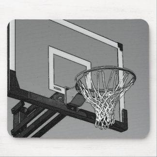 Black & White Basketball Hoop Mouse Pad