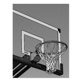 Black & White Basketball Hoop Postcard