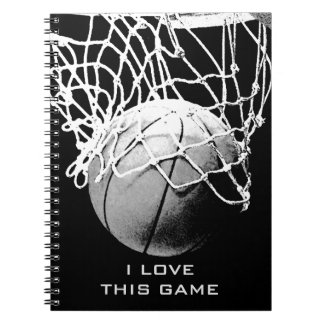 Black & White Basketball I Love This Game Notebook