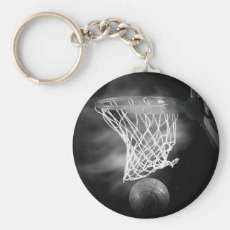 Black & White Basketball Keychains