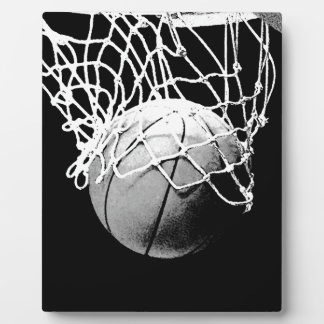 Black & White Basketball Plaque