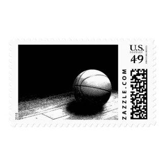 Black & White Basketball Postage