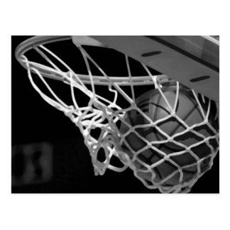 Black & White Basketball Postcard