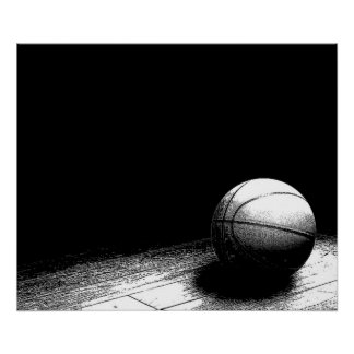 Black & White Basketball Poster