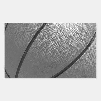 Black & White Basketball Rectangular Sticker