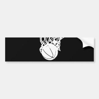 Black & White Basketball Silhouette Bumper Sticker