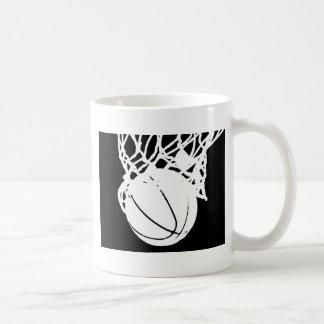 Black & White Basketball Silhouette Coffee Mug
