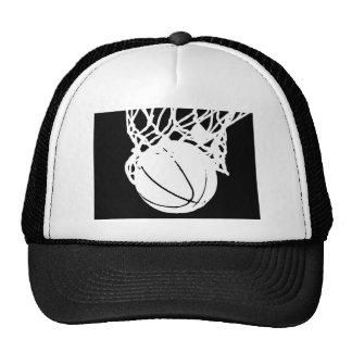 Black & White Basketball Silhouette Trucker Hat