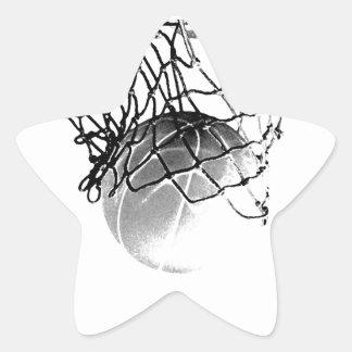 Black & White Basketball Star Sticker
