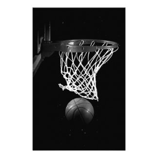 Black & White Basketball Stationery