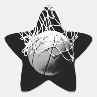 Black White Basketball Star Stickers