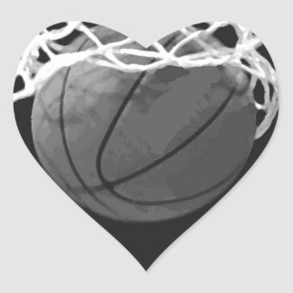 Black White Basketball Stickers