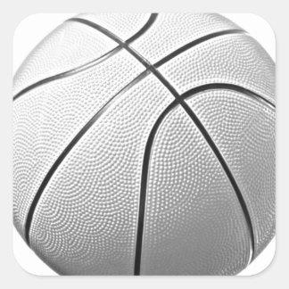 Black White Basketball Sticker