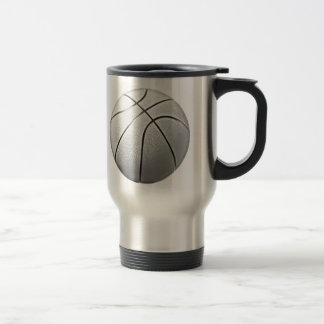 Black & White Basketball Travel Mug