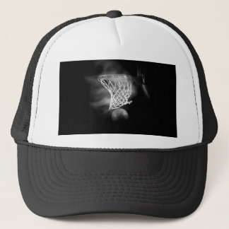 Black & White Basketball Trucker Hat