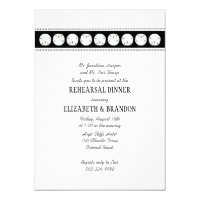 Black White Beach Sand Dollar Rehearsal Dinner Invitation