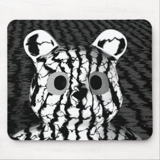 Black White Bear Mouse Pad