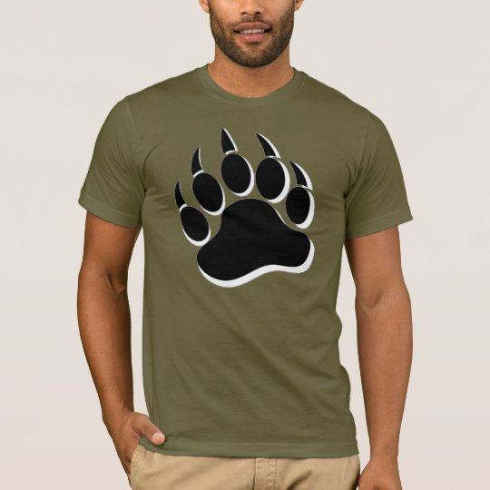 Black White Bear Paw T-Shirt