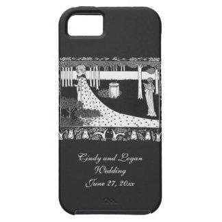 Black White Beardsley Art Nouveau Lady iPhone SE/5/5s Case