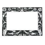Black White Beardsley Art Nouveau Magnetic Photo Frame