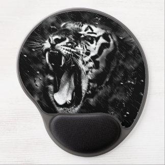 Black & White Beautiful Tiger Head Wildlife Gel Mouse Pad