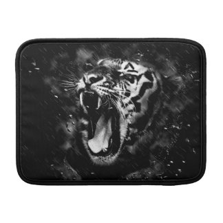 Black & White Beautiful Tiger Head Wildlife Sleeve For MacBook Air