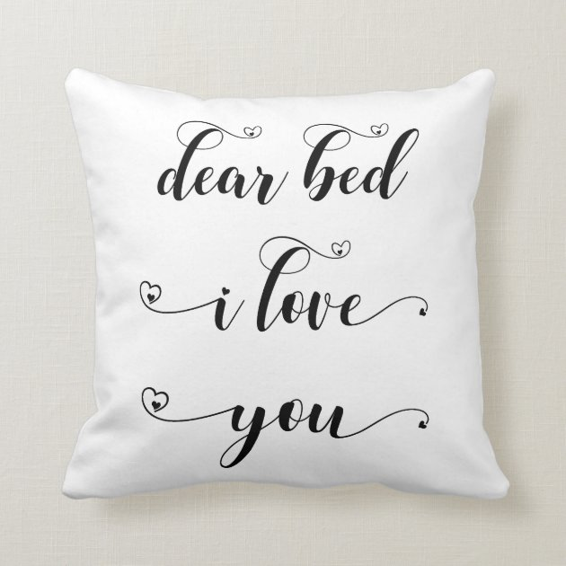 Black White Bedroom Quote Bed I Love You Throw Pillow Zazzle Com