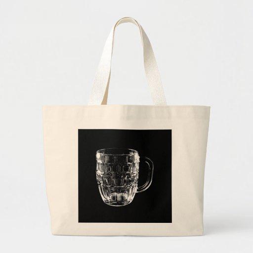 Black & White Beer Mug Canvas Bags
