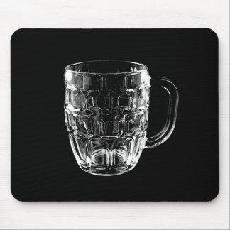 Black & White Beer Mug Mouse Pad