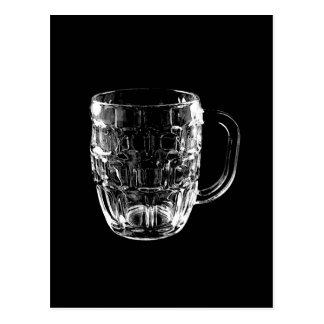 Black & White Beer Mug Postcard