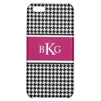 Black White Berry Houndstooth Pattern iPhone 5C Cover