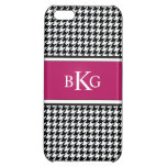 Black White Berry Houndstooth Pattern iPhone 5C Covers