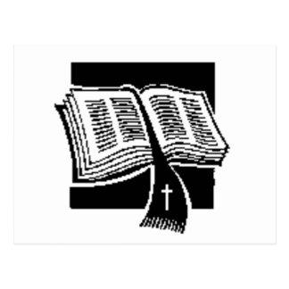 Black & White-bible-art design Postcard