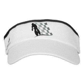 Black White Bicycle Racer Headsweats Visor