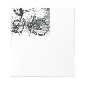 Black & White Bicycle Sketch Notepad