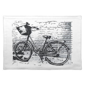 Black & White Bicycle Sketch Placemat