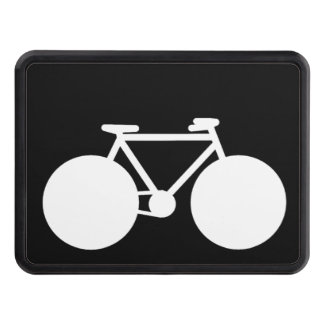 black white bicycle tow hitch cover