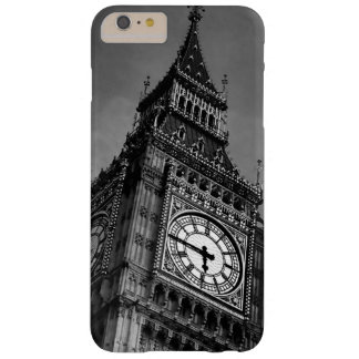 Black & White Big Ben Clock Tower Barely There iPhone 6 Plus Case