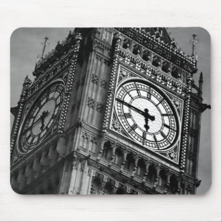 Black & White Big Ben Clock Tower Travel Europe Mouse Pad