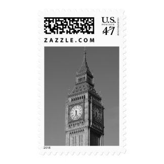 Black & White Big Ben London Travel Postage
