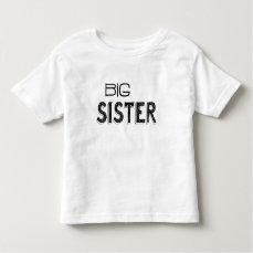 Black & White Big Sister Typography Toddler T-shirt