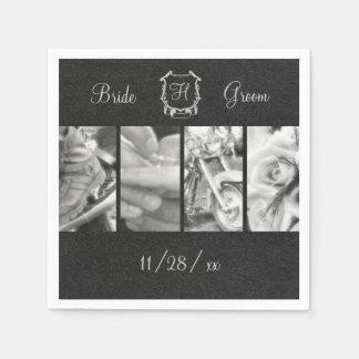 Black & White Biker Wedding Custom Paper Napkins