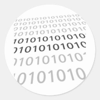 Black & White Binary 01 - GeekShirts Stickers