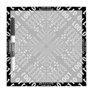 Black & White Binary Fractal Dry Erase Board